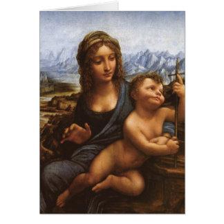 The Madonna of the Yarnwinder circa 1501 Card