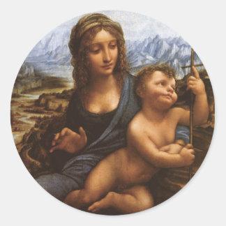 The Madonna of the Yarnwinder circa 1501 Classic Round Sticker