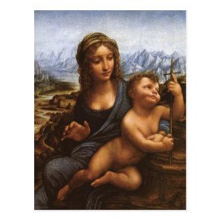 The Madonna of the Yarnwinder circa 1501 Postcard