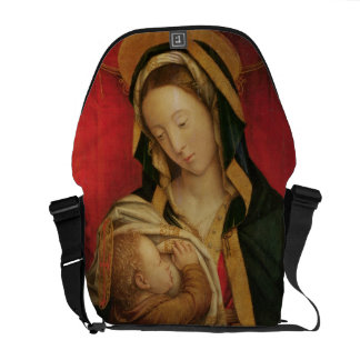 The Madonna Suckling her Child, 1520-30 (oil on pa Messenger Bag