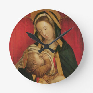 The Madonna Suckling her Child, 1520-30 (oil on pa Round Clock