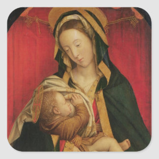 The Madonna Suckling her Child, 1520-30 (oil on pa Square Sticker