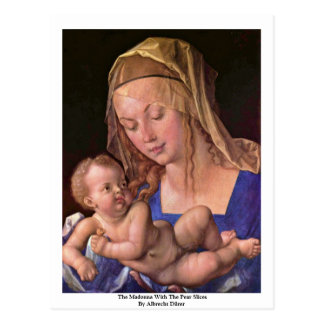 The Madonna With The Pear Slices By Albrecht Dürer Postcard
