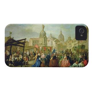 The Madrid Fair in the Plaza de la Cebeda (oil on Case-Mate iPhone 4 Case