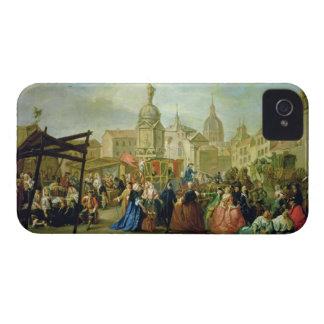 The Madrid Fair in the Plaza de la Cebeda (oil on iPhone 4 Case