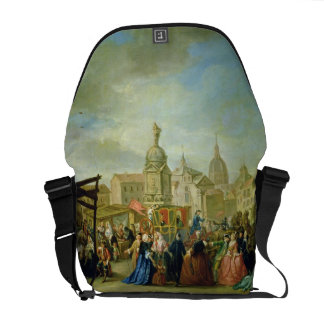 The Madrid Fair in the Plaza de la Cebeda (oil on Courier Bags
