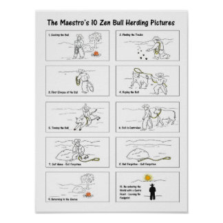 The Maestro's 10 Zen Bullherding Pictures Poster