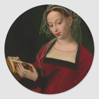 The Magdalen reading by Ambrosius Benson Classic Round Sticker