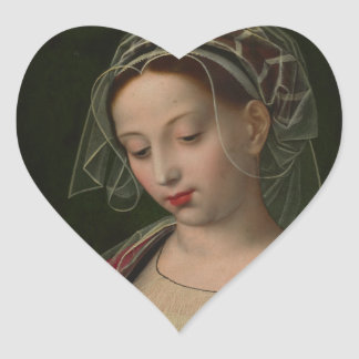 The Magdalen reading by Ambrosius Benson Heart Sticker
