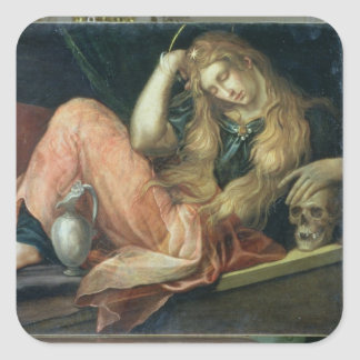 The Magdalene (oil on canvas) Square Sticker