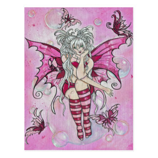 """The Magenta Fairy"" postcard"