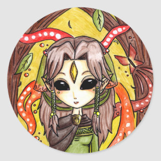 The Mages daughter Round Stickers