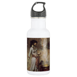 The Magic Circle [John William Waterhouse] Water Bottle
