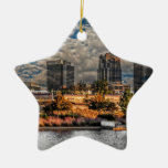 The Magic City Double-Sided Star Ceramic Christmas Ornament