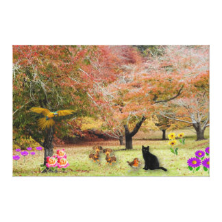 The Magic Garden Wrapped Canvas Print