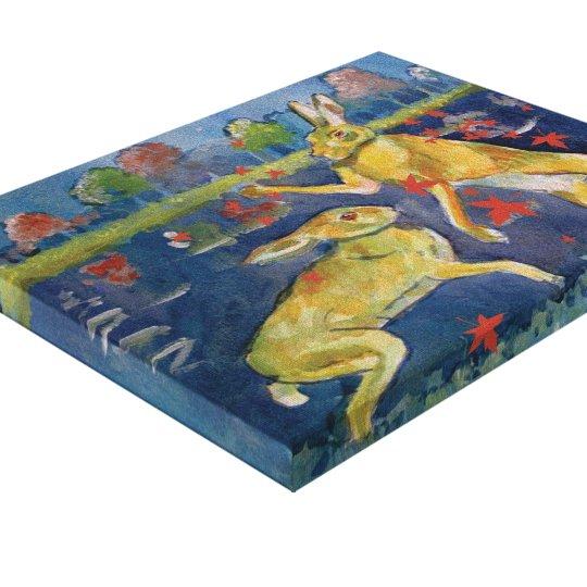 """The Magic Hares"" Canvas Prints"