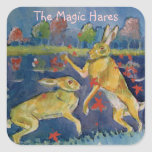 """The Magic Hares"" Square Sticker"