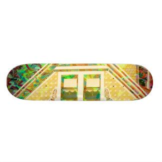 The Magic Hawse orange Skate Board