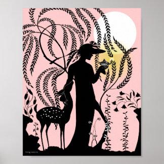 The Magic Lamp in Peach Poster