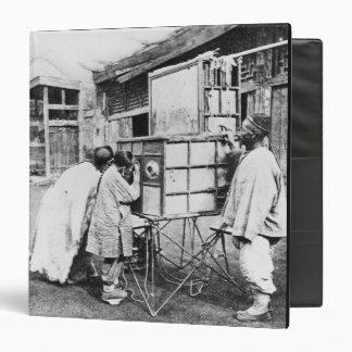 The magic lantern, c.1870 (b/w photo) vinyl binders