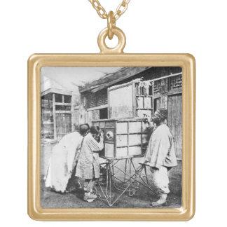 The magic lantern, c.1870 (b/w photo) jewelry