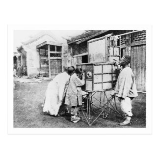 The magic lantern, c.1870 (b/w photo) post cards