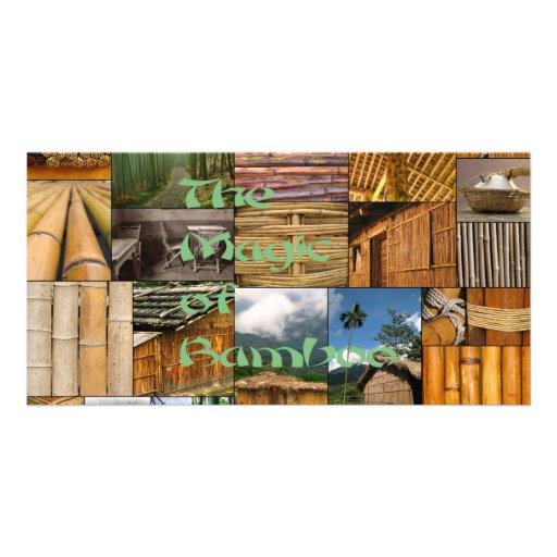 The Magic of Bamboo Customized Photo Card