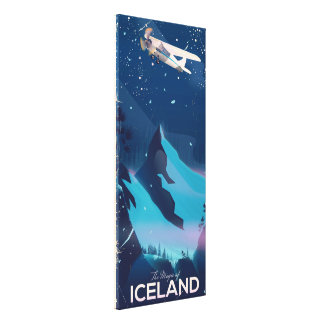 The Magic of Iceland travel poster Canvas Print