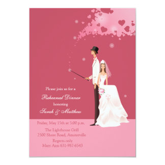 The Magic of Love Rehearsal Dinner Party Invitatio 5x7 Paper Invitation Card