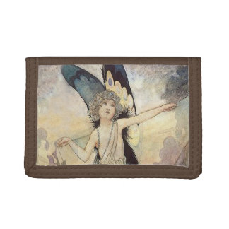 """""""The Magic of the Cobweb"""" Fairy Art by Charles Rob Trifold Wallet"""