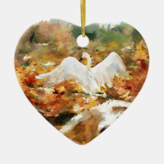 the magic of the fallen leaf ceramic ornament