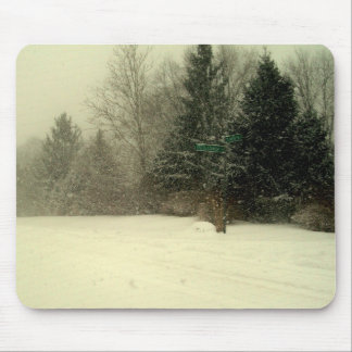 The magic of winter snow. mouse pad