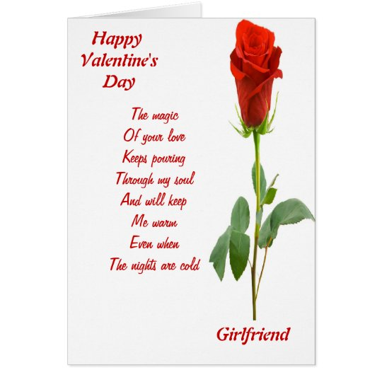 The magic of your love girlfriend card