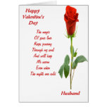 The magic of your love husband greeting card