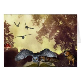 The magic owl Book card