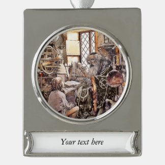 The Magic Shop Silver Plated Banner Ornament