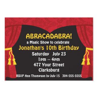 The Magic Show 5x7 Paper Invitation Card