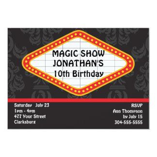 The Magic Show Marquee 5x7 Paper Invitation Card
