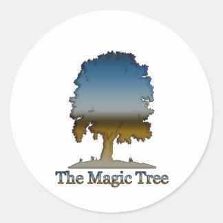 The Magic tree Classic Round Sticker