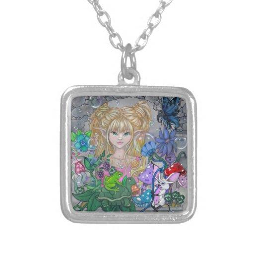 """The Magic Window"" cute fairy art NECKLACE"