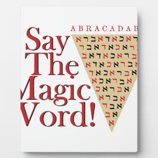 The Magic Word Plaque