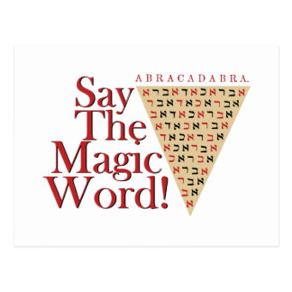 The Magic Word Postcard