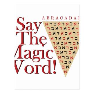 The Magic Word Postcard