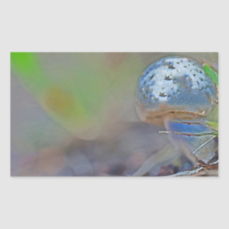 The Magical Blue Mushroom Rectangular Sticker