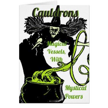 Halloween Themed The Magical Cauldron Card