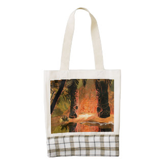 The magical temple zazzle HEART tote bag