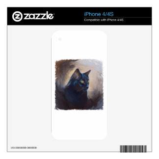 The Magical Van Goh Cat Decal For The iPhone 4S