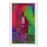 The Magician Tarot Card Psychedelic Poster