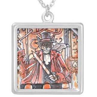 The Magician Tarot Card Silver Plated Necklace
