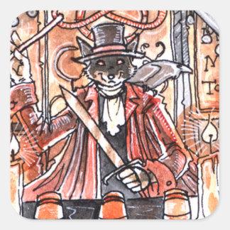 The Magician Tarot Card Square Sticker